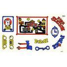 LEGO Sticker Sheet for Set 140-1 / 350-3