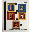 LEGO Sticker Sheet for Set 21311 (39754)