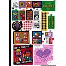 LEGO Sticker Sheet for Set 21324 (73327)