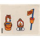 LEGO Sticker Sheet for Set 3660