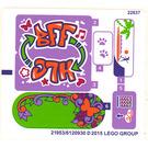 LEGO Sticker Sheet for Set 41099 (21953)