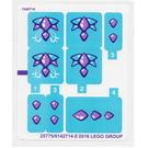 LEGO Sticker Sheet for Set 41172 (25774 / 25775)