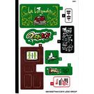 LEGO Sticker Sheet for Set 41379 (65018)