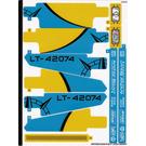 LEGO Sticker Sheet for Set 42074 (36570)