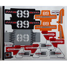 LEGO Sticker Sheet for Set 42076 (37235)