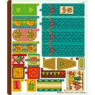 LEGO Sticker Sheet for Set 43185 (69662)