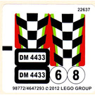LEGO Sticker Sheet for Set 4433 (98772)