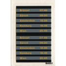 LEGO Sticker Sheet for Set 4554 - Train Schedule sheet