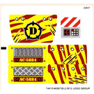 LEGO Sticker Sheet for Set 5884 (74415)