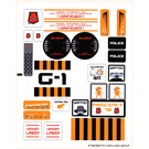 LEGO Sticker Sheet for Set 5985 (91792)