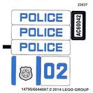 LEGO Sticker Sheet for Set 60042 (14795)