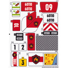LEGO Sticker Sheet for Set 60110 (24512)