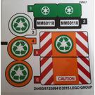 LEGO Sticker Sheet for Set 60118 (24493)