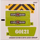 LEGO Sticker Sheet for Set 60121 (24536)