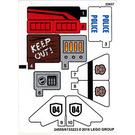 LEGO Sticker Sheet for Set 60131 (24555)