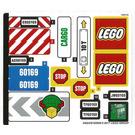 LEGO Sticker Sheet for Set 60169 (34024)