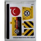 LEGO Sticker Sheet for Set 60186 (37401)