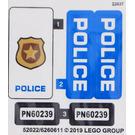 LEGO Sticker Sheet for Set 60239 (52022)