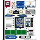 LEGO Autocollant Sheet for Set 60246 (66184)