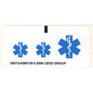 LEGO Sticker Sheet for Set 6164 / 7902 (55073)