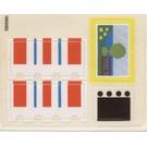 LEGO Sticker Sheet for Set 6370