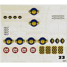 LEGO Sticker Sheet for Set 6542