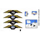 LEGO Sticker Sheet for Set 6575 (72638)