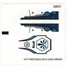 LEGO Sticker Sheet for Set 70007 (14177)