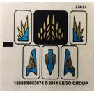LEGO Sticker Sheet for Set 70124 (15683)