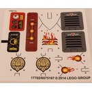 LEGO Sticker Sheet for Set 70142 (17702)
