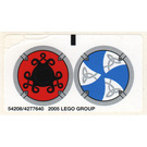 LEGO Sticker Sheet for Set 7018 / 7021 (54208)