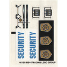 LEGO Sticker Sheet for Set 7033 (46161)