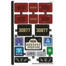 LEGO Sticker Sheet for Set 70424 (60525)