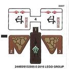 LEGO Sticker Sheet for Set 70599 (24465 / 24466)