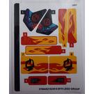 LEGO Sticker Sheet for Set 70638 (37084)