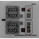 LEGO Sticker Sheet for Set 70726 (16058)