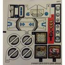 LEGO Sticker Sheet for Set 70737 Sheet 1 (21054)