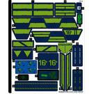LEGO Sticker Sheet for Set 70839 (58396)