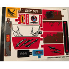 LEGO Sticker Sheet for Set 70907 (30823)