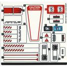 LEGO Sticker Sheet for Set 70908 (30881)