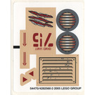 LEGO Sticker Sheet for Set 7296 / 7475 (54470)