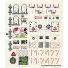 LEGO Sticker Sheet for Set 7298 (54472)