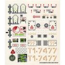 LEGO Sticker Sheet for Set 7298 / 7477 (54472)