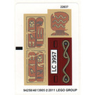 LEGO Sticker Sheet for Set 7325 (94258)