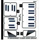 LEGO Sticker Sheet for Set 75276 (67509)