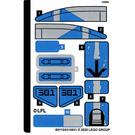 LEGO Sticker Sheet for Set 75280 (69115)