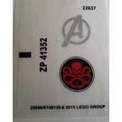 LEGO Sticker Sheet for Set 76030 (20696 / 20697)