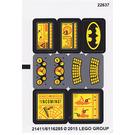 LEGO Sticker Sheet for Set 76034 (21411 / 21412)