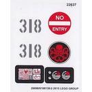 LEGO Sticker Sheet for Set 76041 (20698 / 20699)