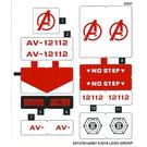 LEGO Sticker Sheet for Set 76049 (25737 / 25739)
